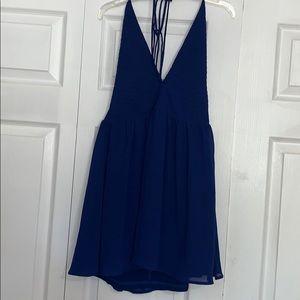 Cobalt Blue Mini Halter Dress!